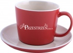 FILIŻANKA KAMIONKOWA LA CAFETIERE - Coffee RED 300 ml