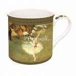 KUBEK PORCELANOWY - ART MASTERPIECE COLLECTION - DEGAS Baletnica 170 DEG1